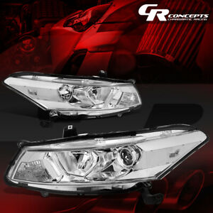 Pair Projector Headlight Lamp For 08 12 Honda Accord 2 door Coupe Chrome clear