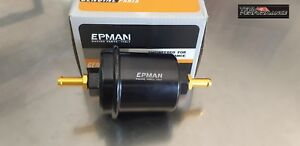 Universal Black Epman Sport High Flow Washable In Line Fuel Filter