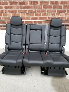 2019 2018 2017 Escalade 2nd Row Bench Seat In Jet Black Leather Full Power