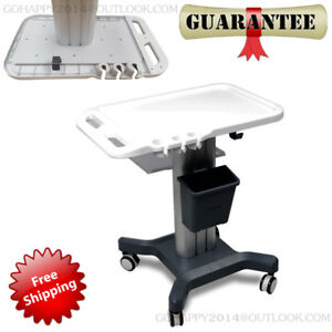 Split Trolley Mobile Cart Stands For Portable Ultrasound Scanner hand Push