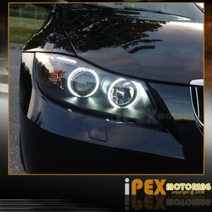 3 Series 2006 2007 2008 Bmw E90 E91 Ccfl Halo Projector Black Led Headlights