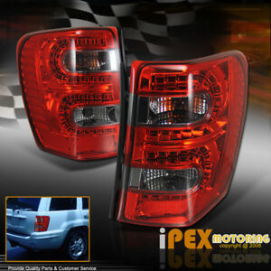 Brightest 1999 2004 Jeep Grand Cherokee Led red Smoked Tail Lights Brake Lamp