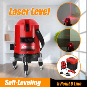 Automatic Laser Level 5 Line 6 Point 4v1h 360 Rotary Self leveling Measure