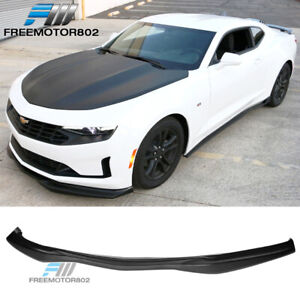 Fits 16 18 Chevrolet Camaro Ss Ac Style Front Bumper Lip Unpainted Polyurethane
