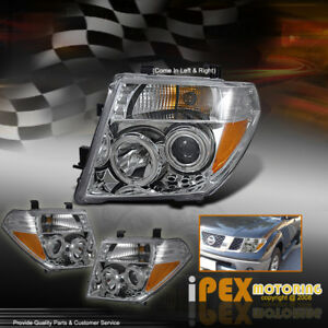 Brightest Halo Projector Led Headlights Black For 2005 2007 Nissan Pathfinder