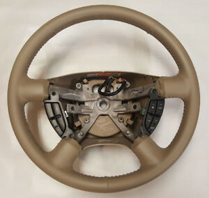 2003 2004 2005 2006 Ford Expedition Tan Leather Steering Wheel Restored