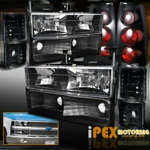 10 Piece Chevy Silverado Tahoe Black Headlights Signals Dark Smoke Tail Lights