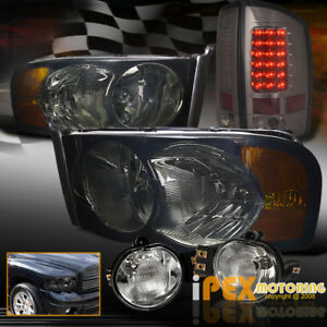 Hot Dodge Ram 1500 2500 3500 Smoke Headlight Led Smoke Tail Light Fog Light