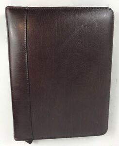 Franklin Covey Leather 7 Ring Classic Planner Binder Zip Around