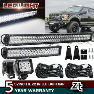 52inch Led Off Road Light Bar Combo 22 3 Pods Suv 4wd Ute For Jeep 50 20