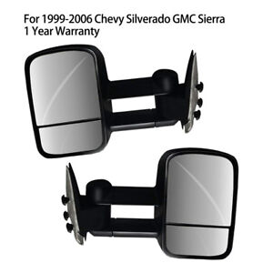 New Passenger Driver Dual Glass Towing Mirror For Chevy Gmc Trucks 1999 2006