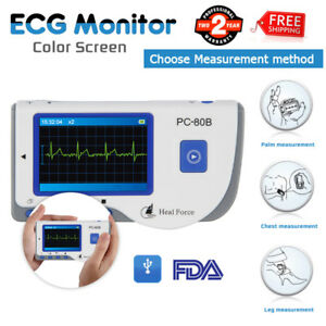 Portable Heal Force Ecg Monitor ecg Lead Cables 50 electrode Pads Heart Analysis