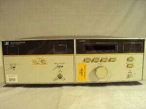 Hp Agilent 8671a Microwave Frequency Synthesizer 2 6 2ghz Hewlett Packard