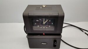 Lathem 2126 Vintage Lever Activated Time Card Punch Clock