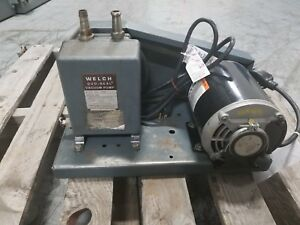 Welch Model No 1399 Duo seal Vacuum Pump 115v 1 3 Hp