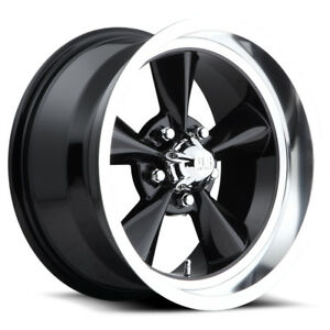 4 new 15 Inch Us Mags U107 Standard 15x7 5x4 75 5mm Gloss Black Wheels Rims