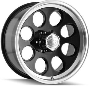 5 new 15 Inch Ion 171 15x8 5x127 5x5 27mm Black Wheels Rims