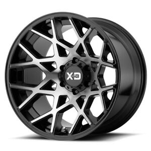 20 Inch Black Silver Wheels Rims Lifted Ford F150 Truck 6x135 Xd Xd831 Chopstick