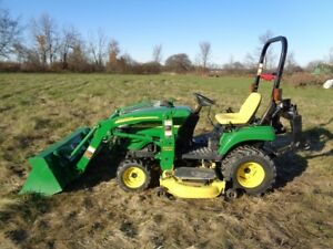 2008 John Deere 2305 W Loader 4wd Hydro 62 Belly Mower 210 Hrs