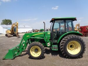 2006 John Deere 5525 Tractor Cab heat air 4wd Loader 2 Remotes 1 440hrs