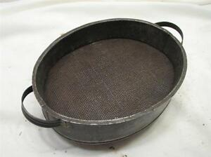 Antique Tin Cheese Pudding Mold Strainer Kitchen Tool Set Primitive Decorative