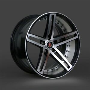 24 Axe Ex20 Staggered Black polished 5x112 Mercedes S550 S63 Bentley Audi A8