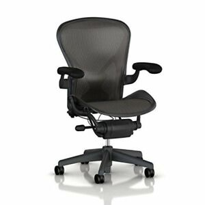 Herman Miller Aeron Chair Highly Adjustable graphite Frame posture Fit size B
