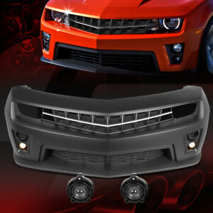 Paintable Zl1 Style Front Bumper Led Projector Fog Light For 10 15 Chevy Camaro