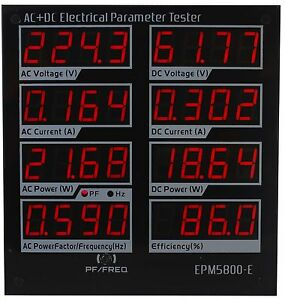 Ac dc300v power Meter electrical Testers Voltmeter ammeter driver Efficiency