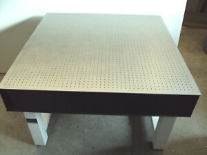 Crated 4 x4 x8 Newport Optical Table Bench Breadboard Lab Isolation Laser Legs