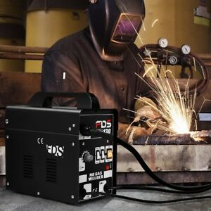 Mig 120 Amp Welder Flux Core Wire Automatic Feed Welding Machine Free Mask