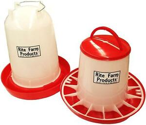 Rite Farm Products 3 7 Gallon Heated Poultry Chicken Waterer Feeder