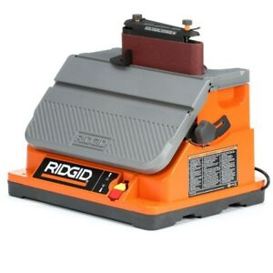 Oscillating Spindle Sander Belt Edge Lock On Switch Corded Power Tool Orange