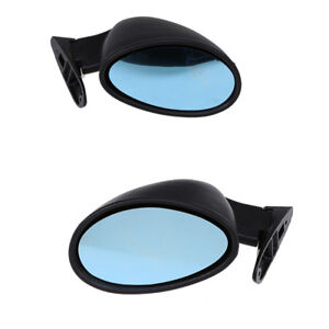 Car Classic Matte Black Side View Door Mirror Truck Car Universal Plane Mirror