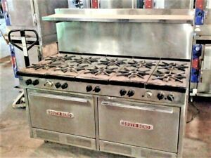 South Bend 60 Gas 10 Burner Range W 2 Two 26 Ovens Commercial Stove 320ss
