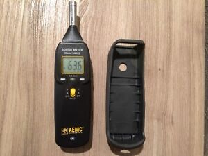 Aemc Instruments Model Ca832 Sound Meter With Case 3 Ranges 1 5db Accuracy