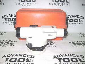 Nikon As 2 34x Autolevel Automatic Auto Builders Level Transit W Carrying Case