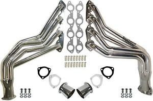 New Performance Long Tube Headers 68 91 Trucks jimmy bbc 396 454 stain