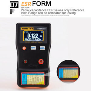 Mesr100 V2 Auto Ranging In Circuit Esr Capacitor Meter Tester 0 001 To 100r Tool