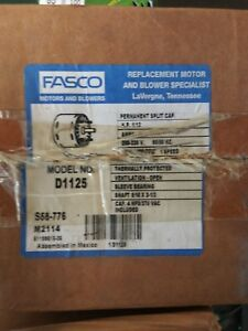 Fasco D1125 1 12 Hp 1550 Rpm