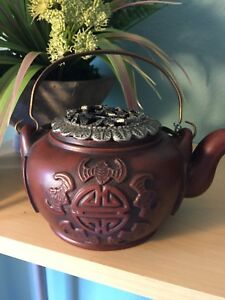 Beautiful Antique Chinese Yixing Red Clay Teapot