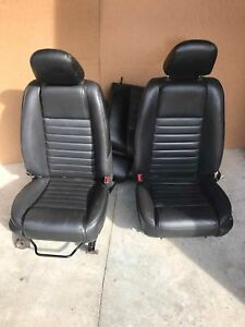 Front Seat Ford Mustang 05 06 07 Black Leather Front Rear