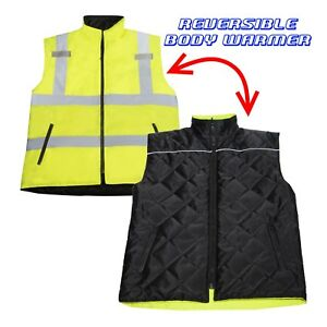 Hi Vis Visibility Reversible Bodywarmer Safety Jorestech Vest