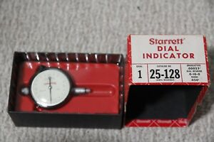 Starrett 25 128 Dial Indicator New In Box Jewel Bearings 0 050 Range