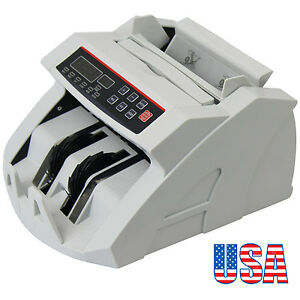 Money Bill Currency Counter Counting Machine Counterfeit Detector Uv Mg Cash Led