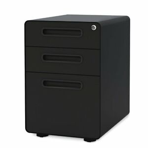 New Locking 3 Drawer Metal File Cabinet Home Office Locks Security Storage Safe