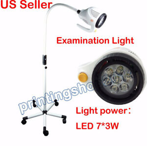 21w Led Shadowless Surgical Medical Exam Light Examination Mobile Light Lamp