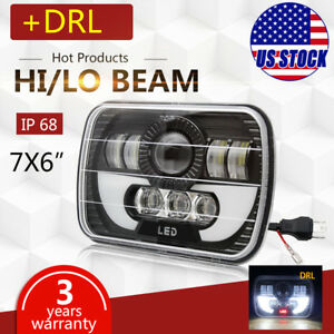 For Toyota Pickup Truck 5x7 7x6 120w H6054 Halo Drl Sealed Beam Led Headlight