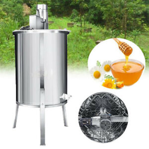 4 Frame 33 Height Stainless Steel Honey Extractor Electric Beekeeping Beehive