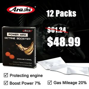 12packs Arashi Power Max Octane Booster Fuel Stabilizer Oil Additives For Suzuki